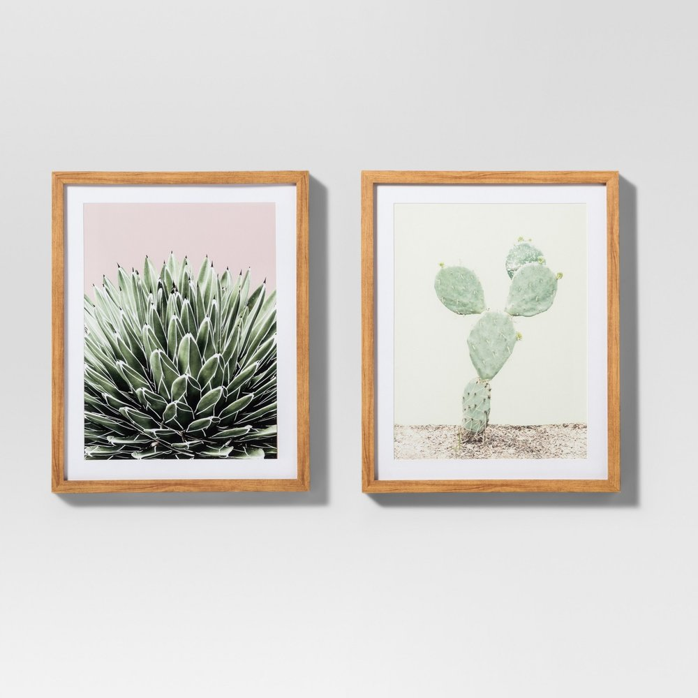 Framed Cactus Wall Prints, $40