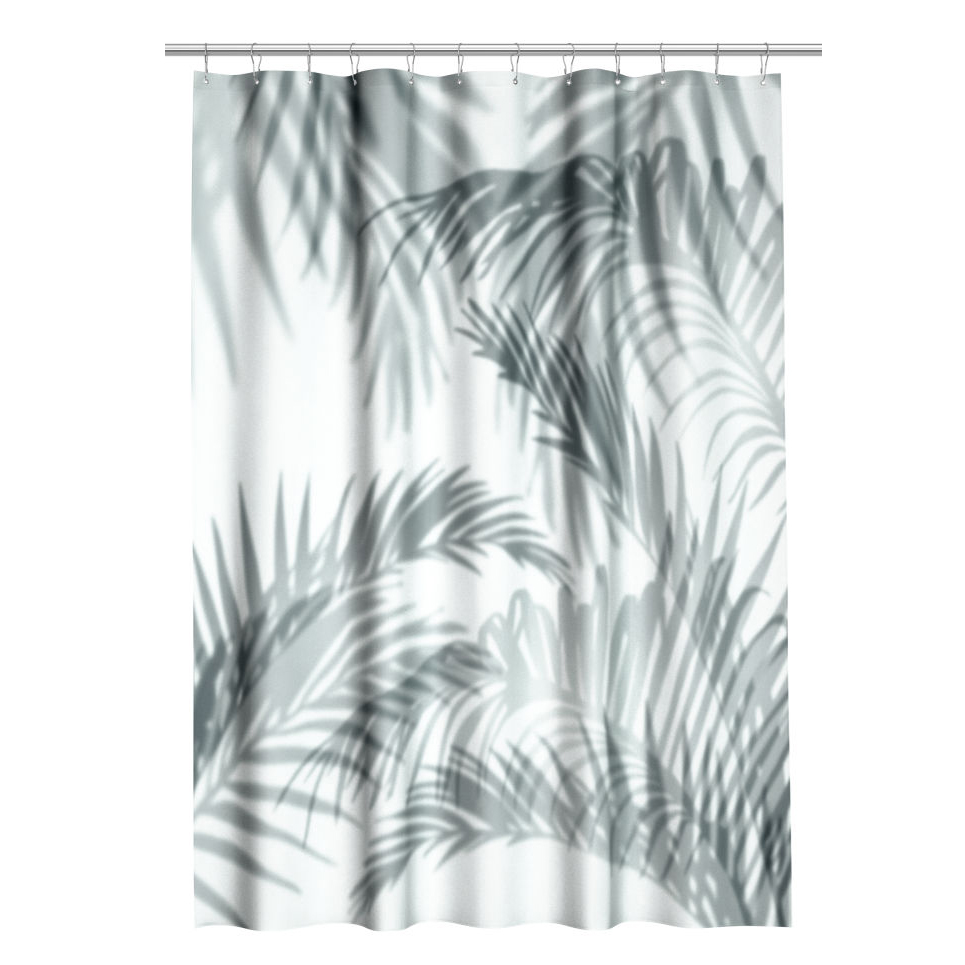 Patterned shower curtain $30