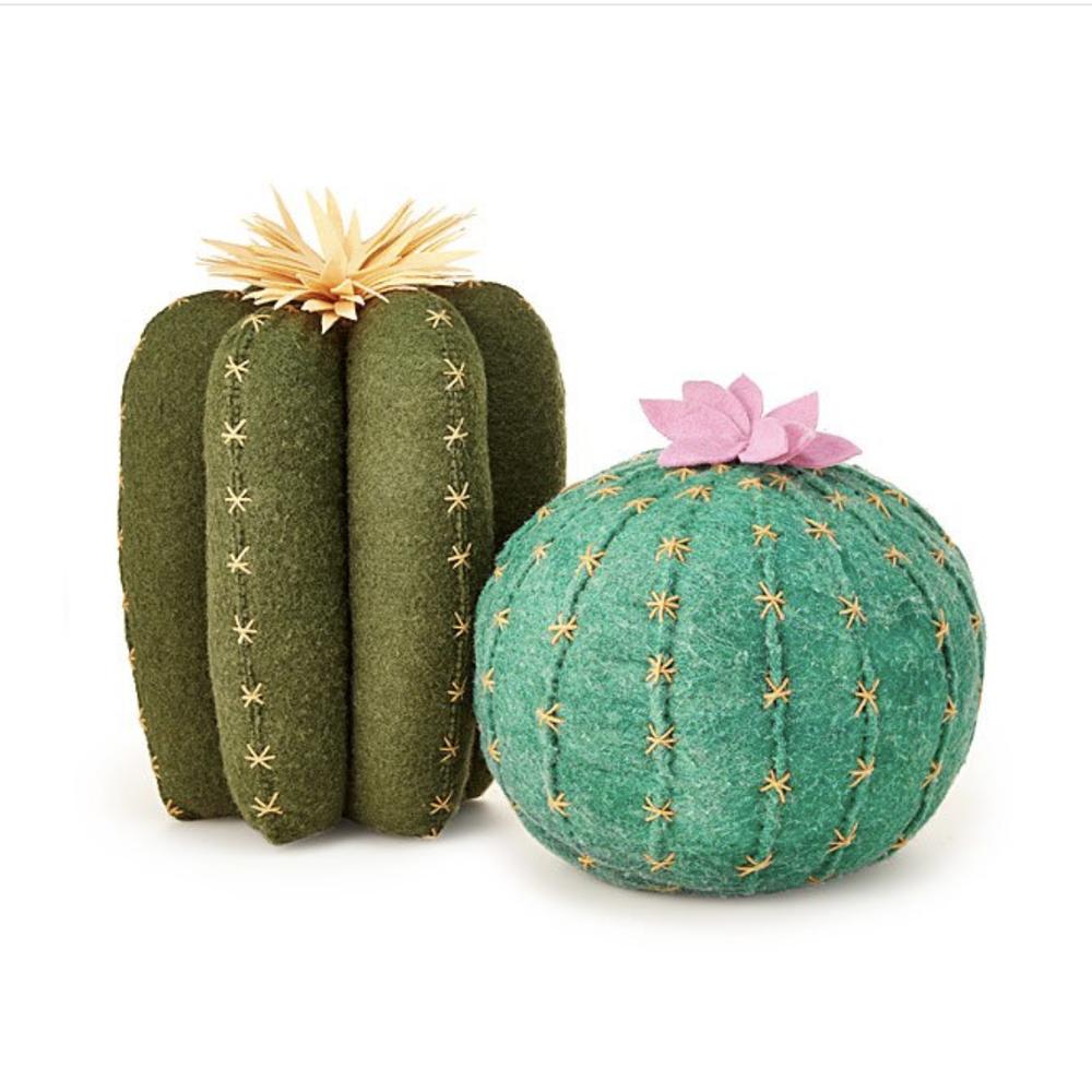 Cactus Bloom Throw Pillows, $28-$40