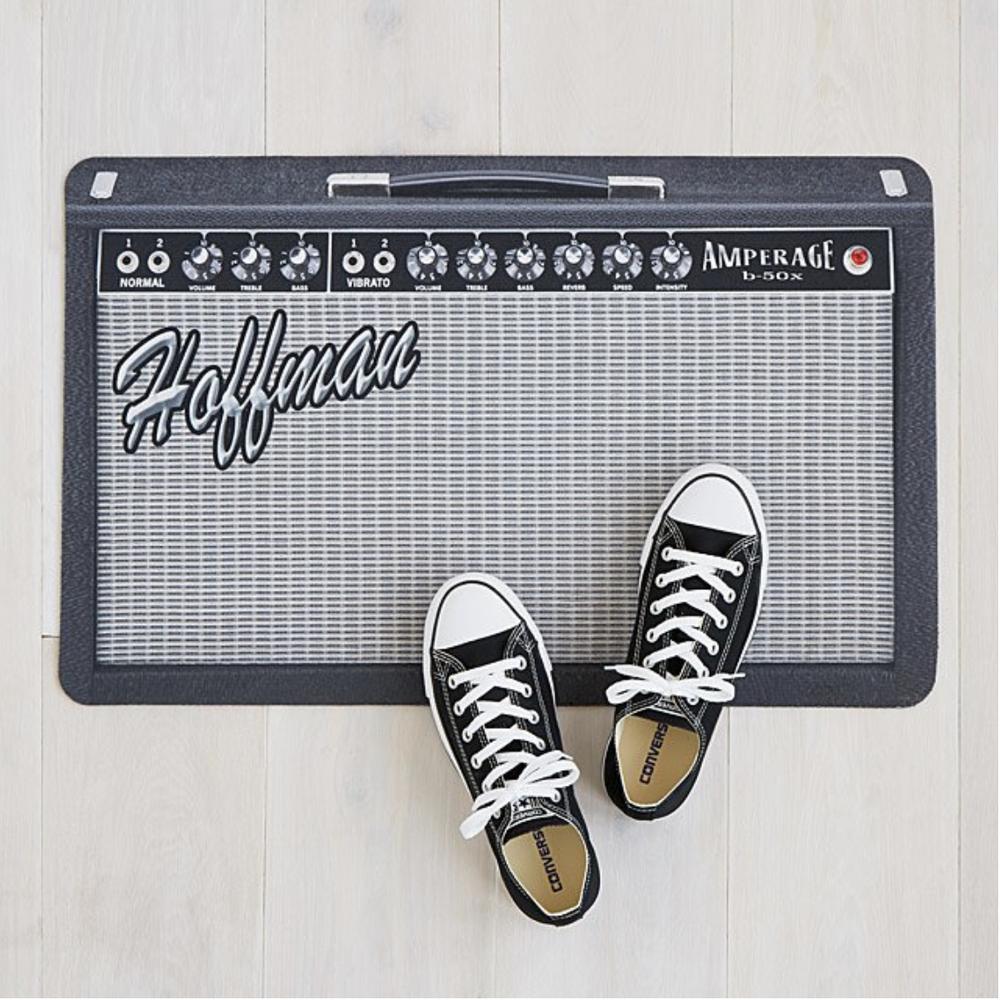 Personalized Amp Doormat, $35