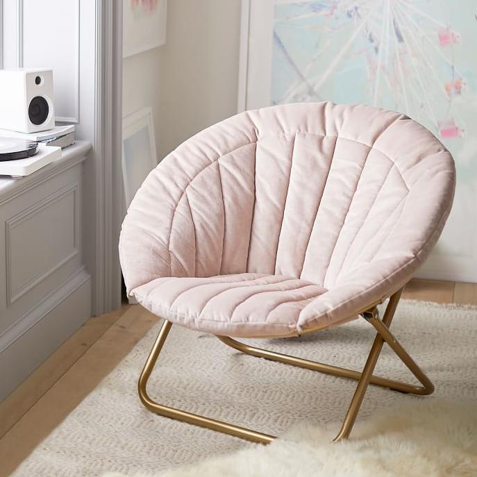 Velvet Channel Stitch Chair, $159