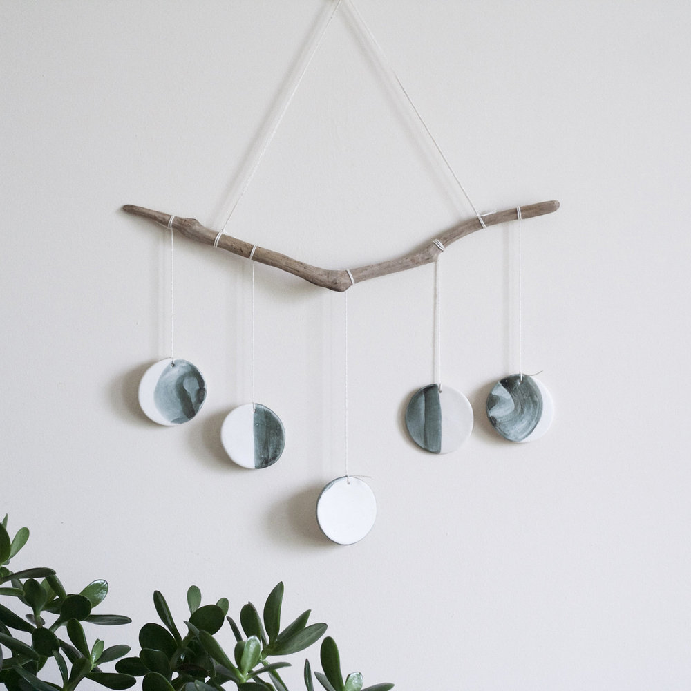 Ceramic Lunar Wall Hanging, $37