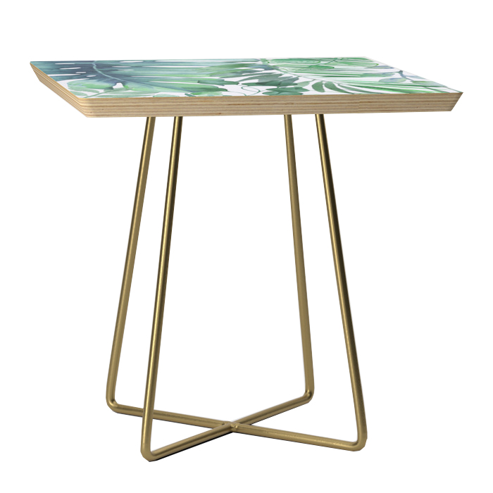 Tropical Leaves Side Table, Society6, $159 -