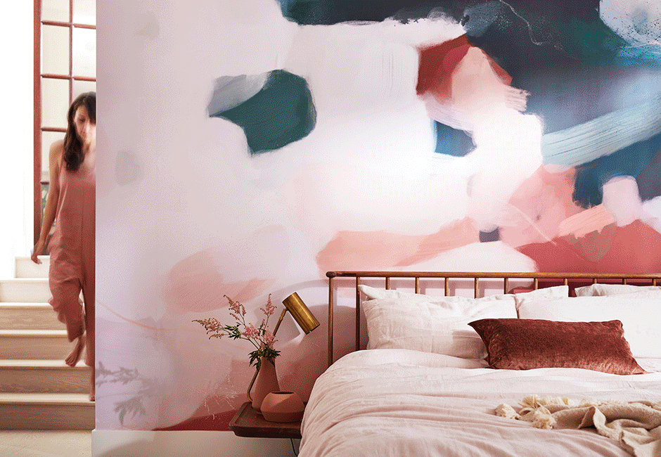 Image via Minted |  Otonio removable wall mural , $495