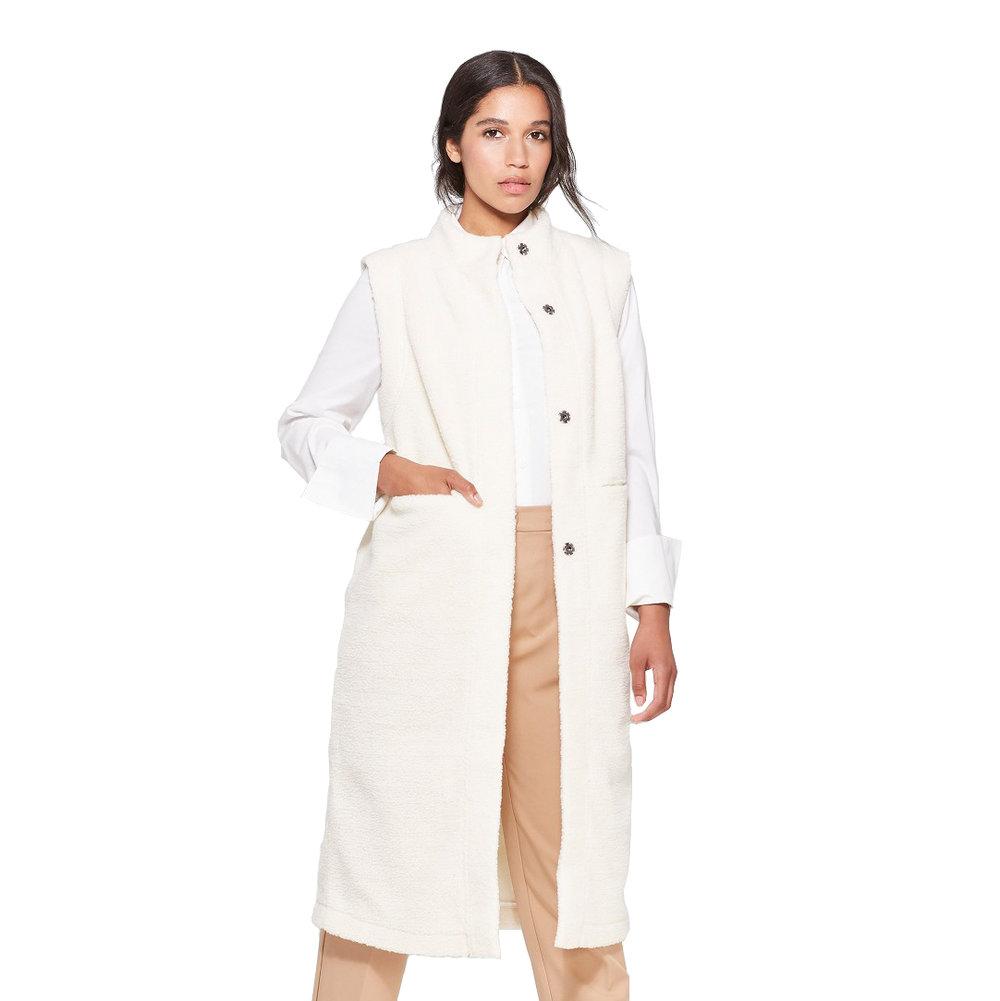 Women's Sleeveless Sherpa Longline Vest, Target, $44.99 -