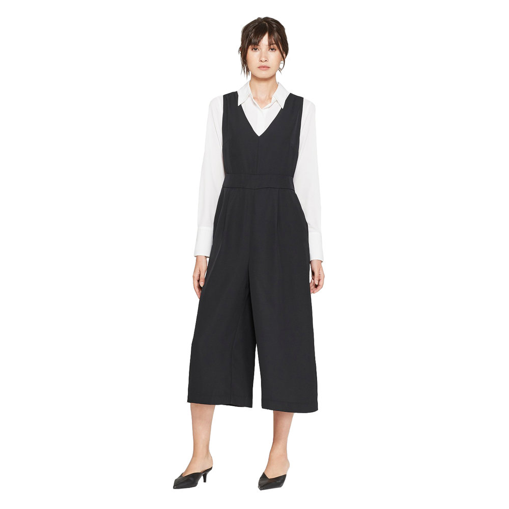 Women's Sleeveless V-Neck Wide Leg Crop Jumpsuit, Target, $29.99 -