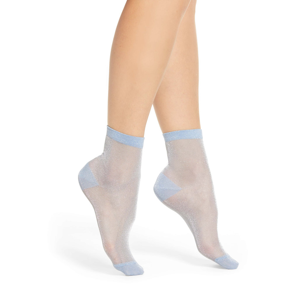 Halogen x Atlantic-Pacific Shimmer Ankle Socks, Nordstrom, $10 -