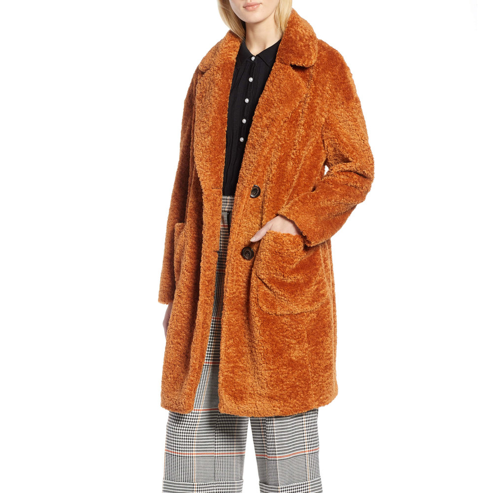 Halogen x Atlantic-Pacific Faux Fur Coat, Nordstrom, $249 -