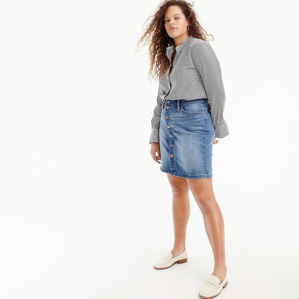 Jcrew Button Front Denim Skirt , $79.50