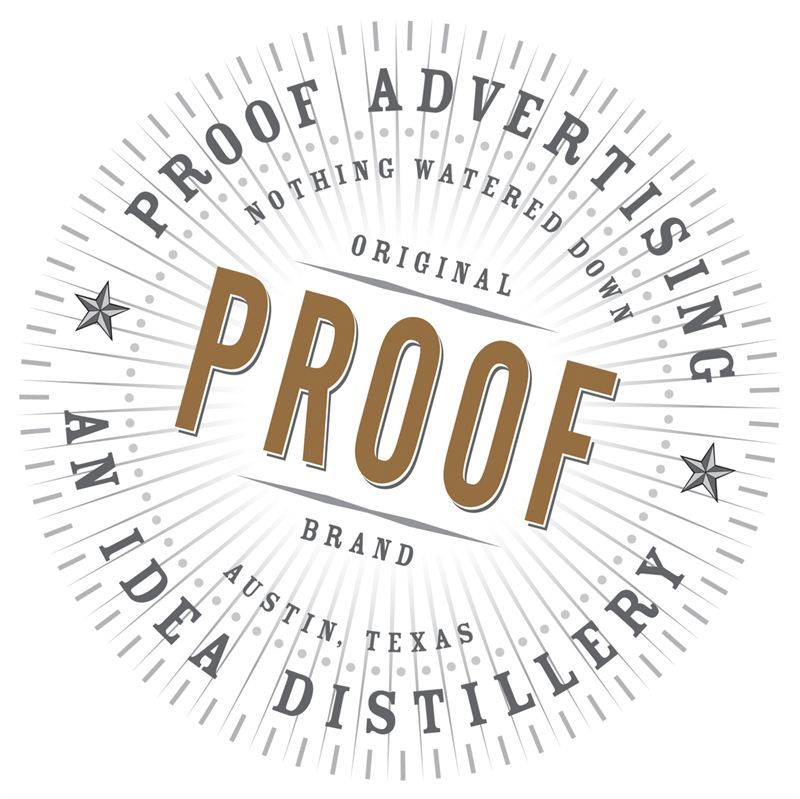 Proof advertising - Proof was created in September 2010 by merger, acquisition, a lot of hard work and a little luck. Day one, the agency was at $60 million in billings with 65 employees.Over the past seven years, we've grown by 52% and added 58 employees. We said goodbye to a few clients that were holding us back. We added new ones that are moving us forward, namely Stubb's Bar-B-Q, Mouser Electronics, Texas Tourism and the American Heart Association. These join a diverse client roster that includes Subway Restaurants, 3M, Gallo Wines, Baylor University and the U.S. Army.