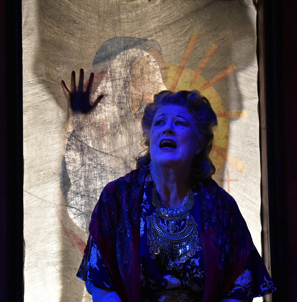 Barbara DeMaio in  The Medium .  Costumes by Becky McGuigan.  Photo by Wendy Mutz.
