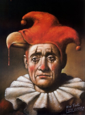 City Opera's poster of Rigoletto - painted by Rafal Olbinsk