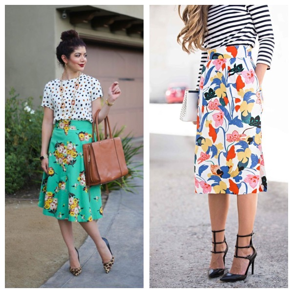 Bold Pattern Mixing - Don't be afraid to step outside of the box in your wardrobe or your life! (Get the looks pictured above by checking out the following items on Poshmark!)