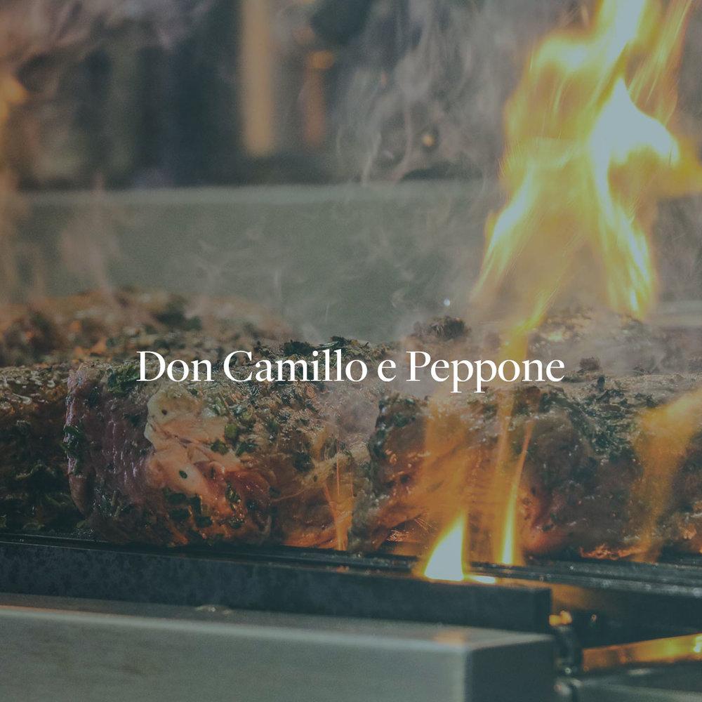 Konzept, Webseitenerstellung, Bildproduktion & SEO für das Restaurant Don Camillo e Peppone