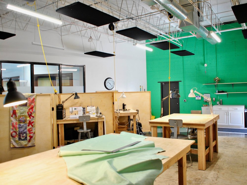 WORKSHOP - PART STUDIO, PART CO-WORKING SPACE, THE SPINDLE WORKSHOP HOSTS ALL KINDS OF DIFFERENT INDUSTRIES AND EXPERIENCES. YOU CAN PRODUCE & EXPAND YOUR PRODUCT LINE, COLLABORATE WITH OTHER MEMBERS, FIND FRESH INSPIRATION, & BE PART OF A CREATIVE COMMUNITY!