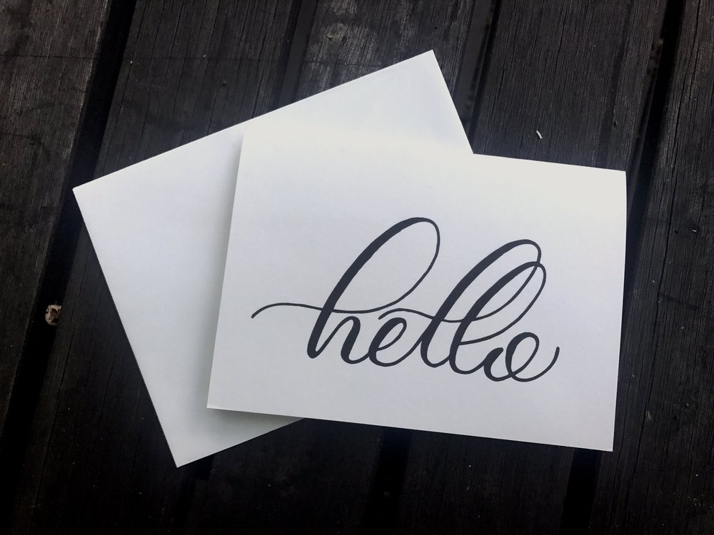 Simple 'Hello' greeting cards