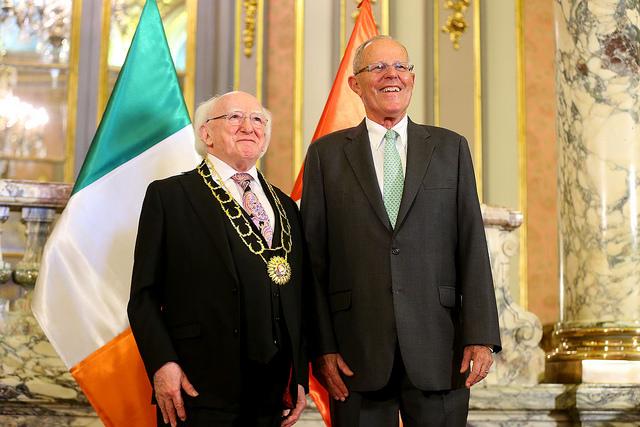 President of Ireland, Michael D. Higgins, with President of Peru, Pedro Pablo Kuczynski (Feb. 2017)