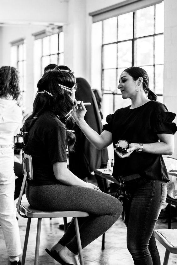 Blank Slate - Models are asked to wear no makeup and natural hair. Event if you think you look better 'done up,' it's important for the production team to see the blank slate our hair and makeup team will be working with to achieve the designer's ultimate vision for their line on the runway.