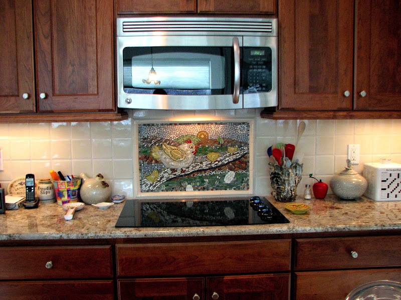 Custom kitchen backsplash