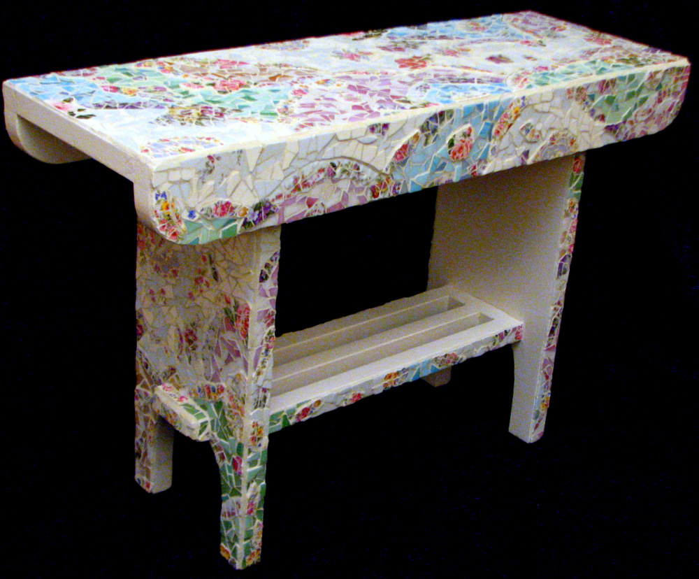 Shabby-chic bench