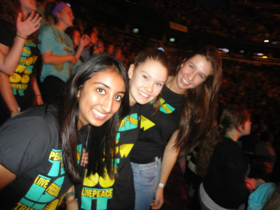 Myself at WE Day in 2011