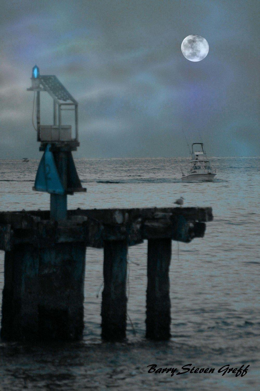 40 Moonlight Boat and Pier Signed.jpg