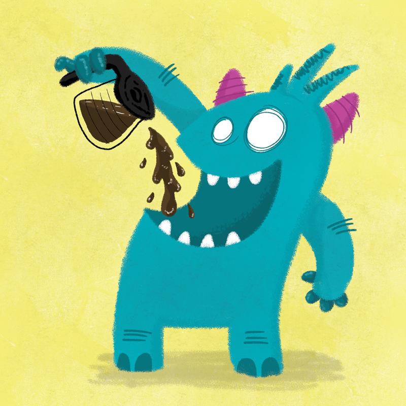 Coffee Monster by Jason Heglund