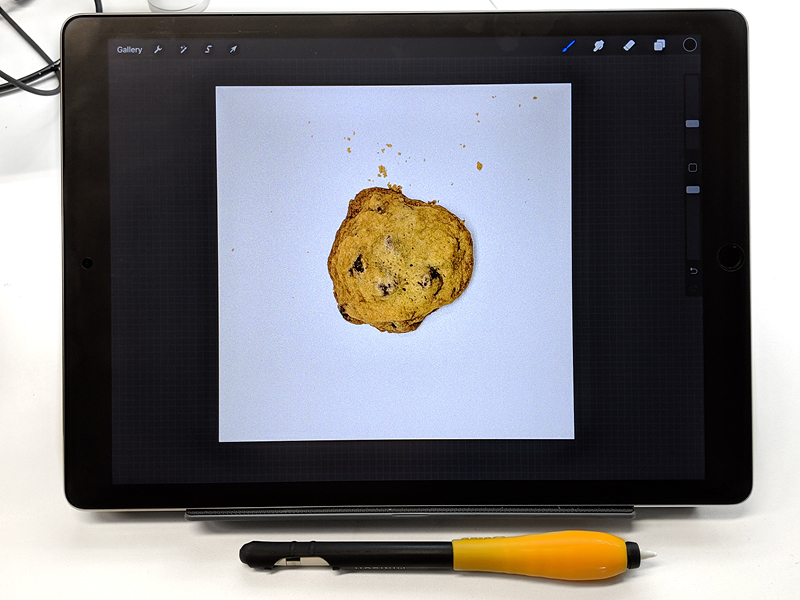 Step 5: Then I  get the photo onto the iPad and into Procreate for doodling.