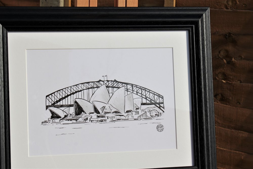 Sydney  - 1 of 4 commissioned artworks for a couple to remember their travels around the world.