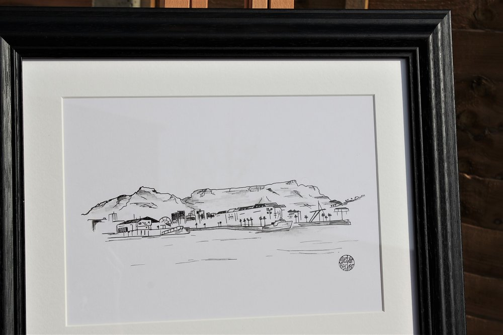 Table Mountain - 3 of 4 commissioned artworks for a couple to remember their travels around the world.
