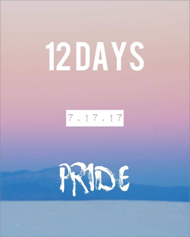 Just 12 days until my new single Pride drops on iTunes, Spotify, and more! I'm beyond excited for you all to hear this new tune!