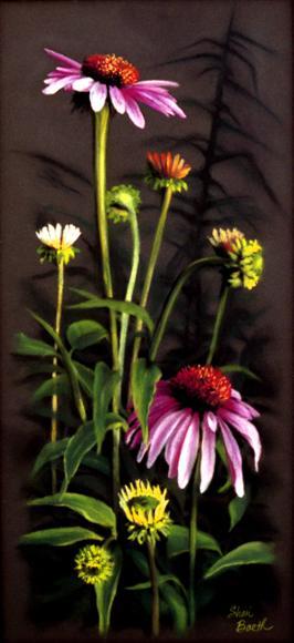 Prairie Flowers - pastel