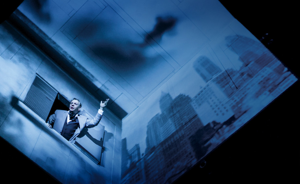 A performance of Needles and Opium by Robert LePage.
