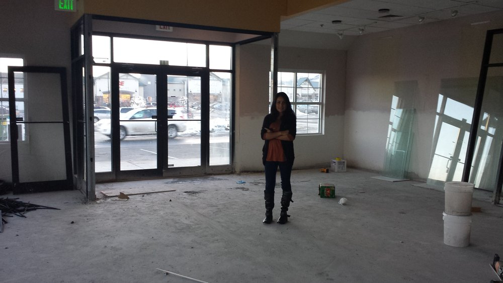 Ivonne Nixon at the Arvada location under construction. February 2014.