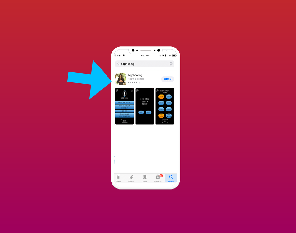 2. Search for apphealing and click on the app icon