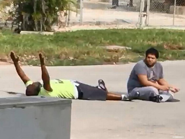 Lorenzo Ramos Charles Kinsey a mental health therapist was shot by Florida police in northern Miami while trying to retrieve an autistic patient who had wandered away from his group home. Police were responding to the call of a suicidal man in the area. What they had found was Kinsey on his back with his hands up trying to console and calm his patient.