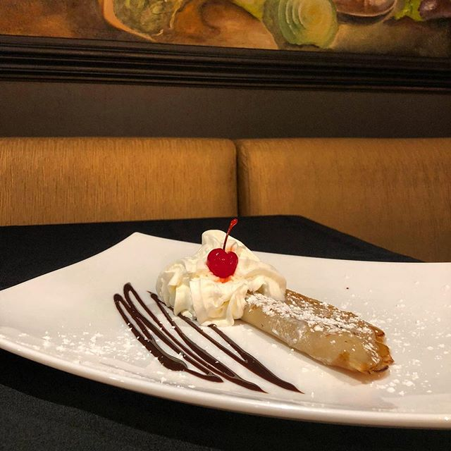 🍁 Step aside, PSL. 🎃 There's a new pumpkin favorite in town 😋 The best part is, this tasty pumpkin crepe is INCLUDED in your meal price! #thehilldining #springfield #bestof417 #pumpkinspice