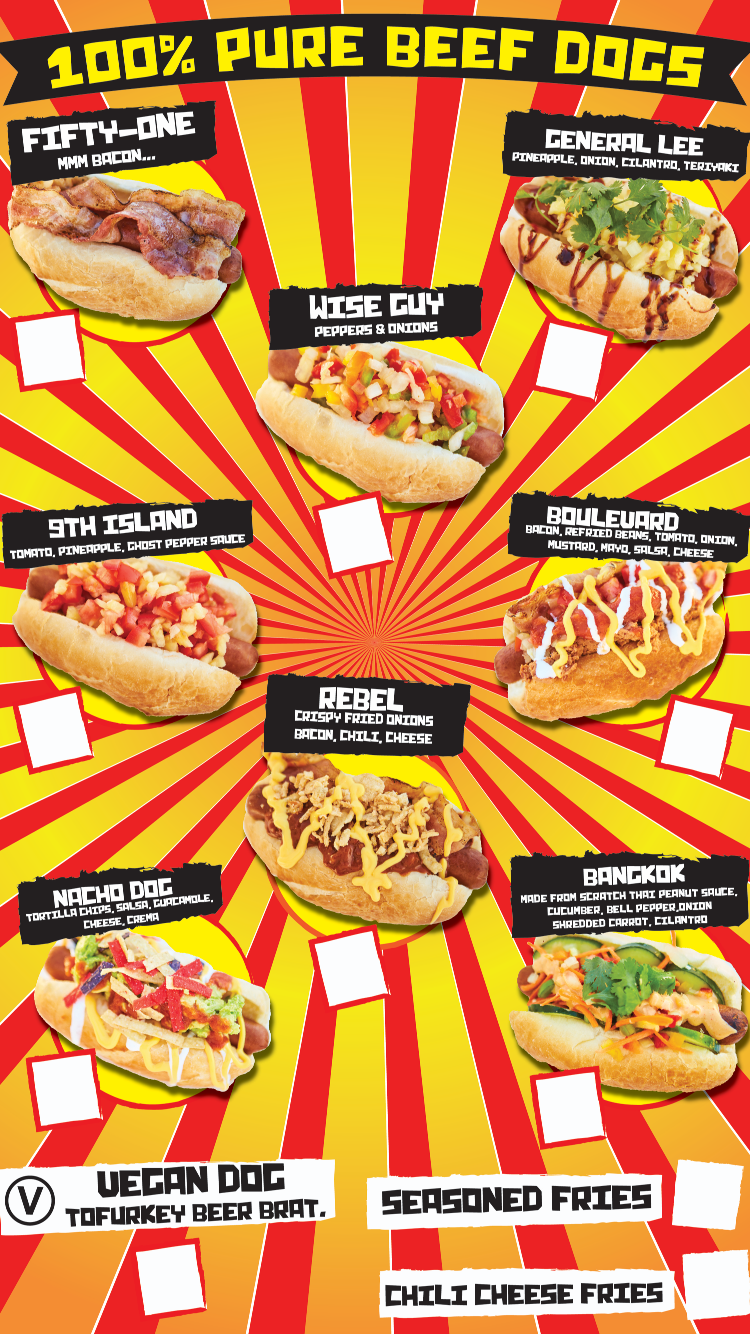 food truck menu hotdog taco lobster las vegas — dude wheres my