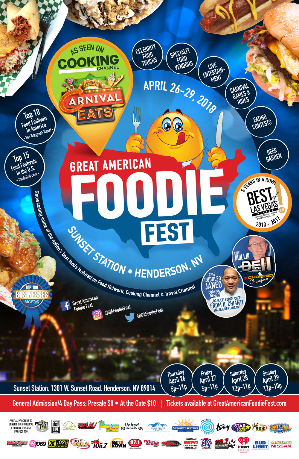 Great American Foodie Fest   is next Week!  Get ready for some carnival rides and amazing food!  If you have'nt gotten tickets already, you can buy them in advance for a discount   HERE!   Also, Nicholas from WTF Where's The Food Truck will be there having a raffle for a pretty bad ass prize, so come and find out what it is all about!