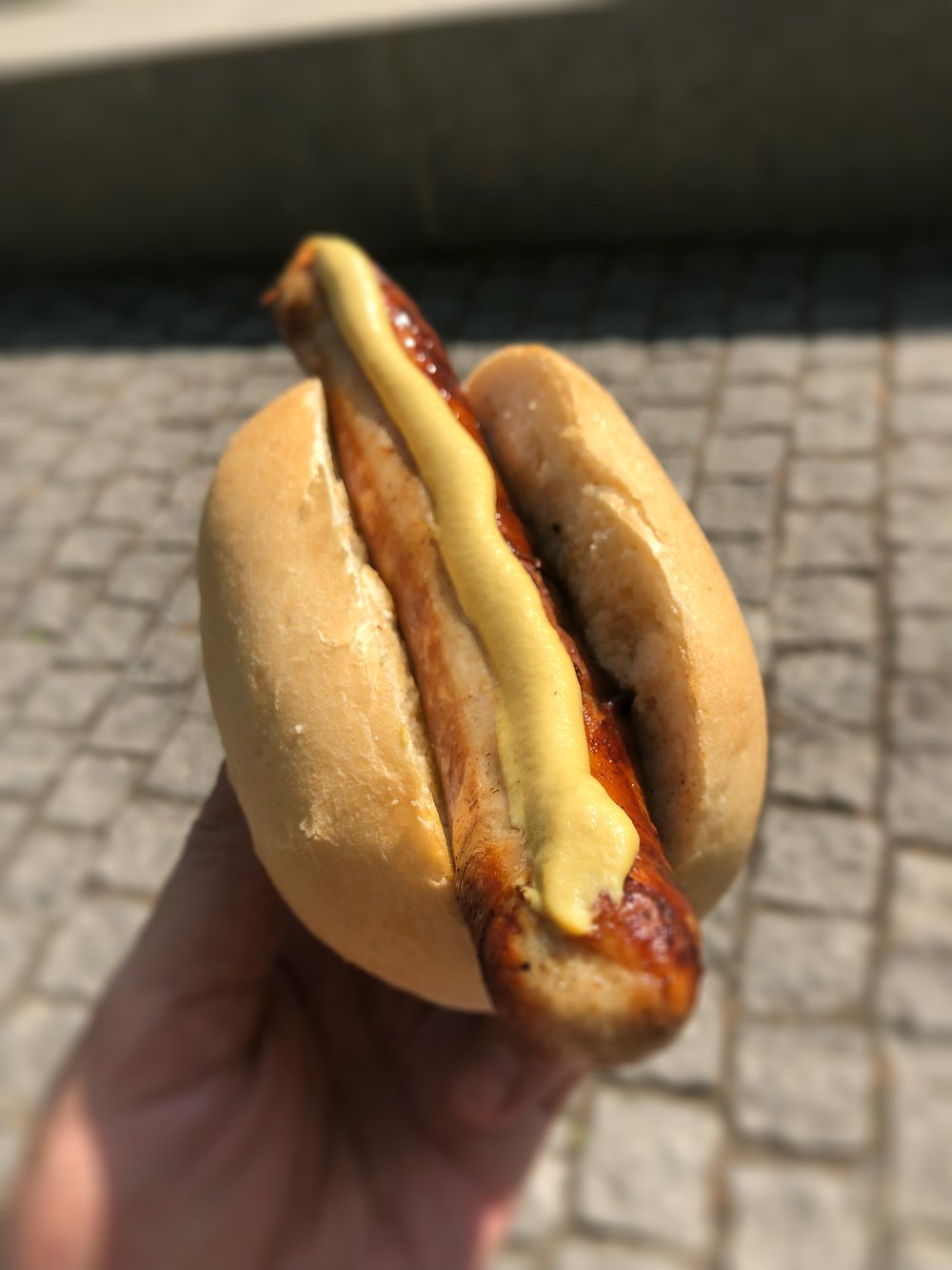 German Bratwurst - Robust flavor from J-Train's motherland. We ate this puppy in Dresden and it didn't disappoint! The bun was fresh, the mustard was spicy, and the sausage was worth the line we waited in!