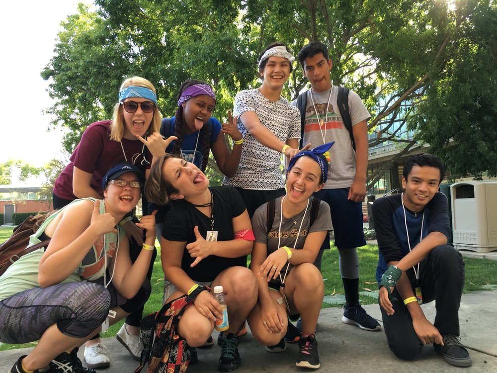 A student cohort from Camp 2016.