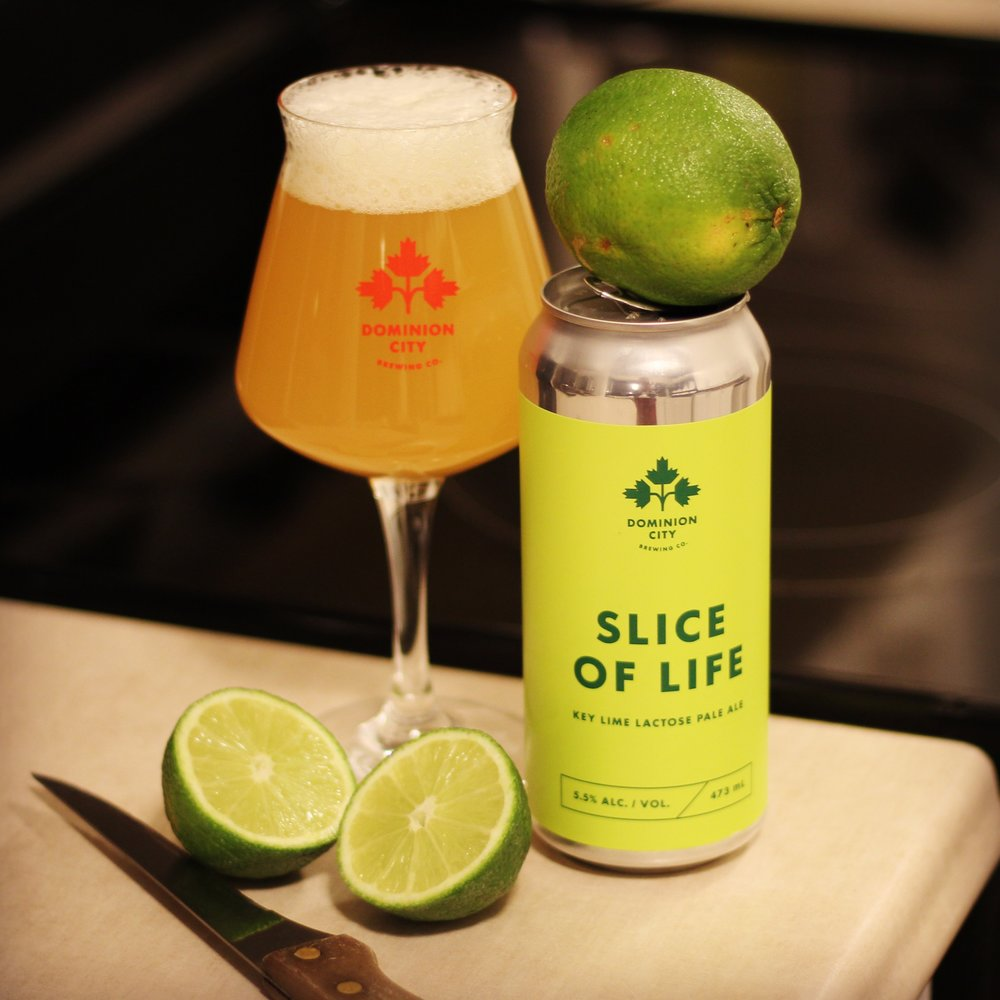 Dominion City Brewing Co (Ottawa, ON) Slice of Life, Key Lime Lactose Pale Ale.