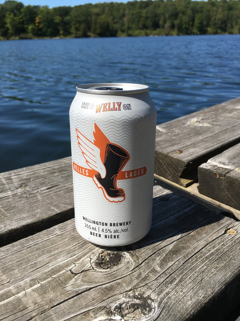 Wellington Brewery 's (Guelph, ON) Helles Lager, one of my go-to summer at the cottage beers.
