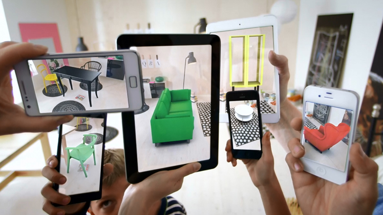 IKEA  uses augmented reality to let you preview how furniture will look in your space.