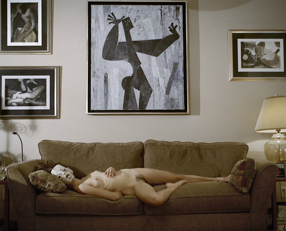 (Nude Bodies and an Olmec Mask)