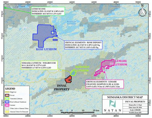 Duval Lithiumprojekt Standortkarte