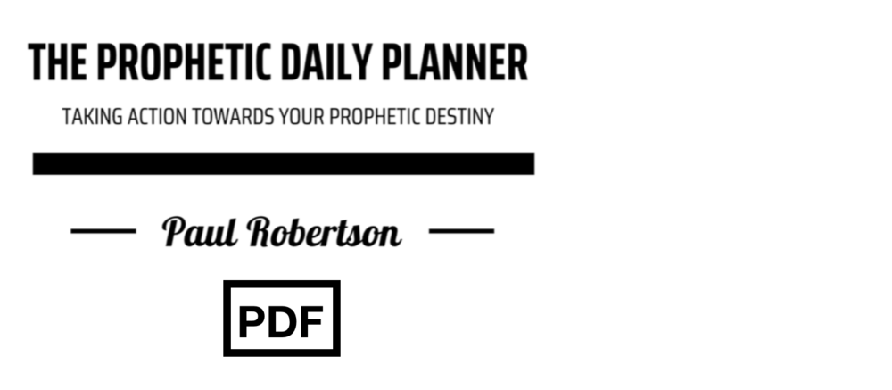 THE PROPHETIC dAILY PLANNER (PDF) $6.50 - This planner helps you: — Clarify & develop the Father's vision for your life. Construct goals & a plan towards your prophetic destiny.Increase thankfulness, wisdom and intentionality. Adopt good daily habits to align with what the Father is doing.