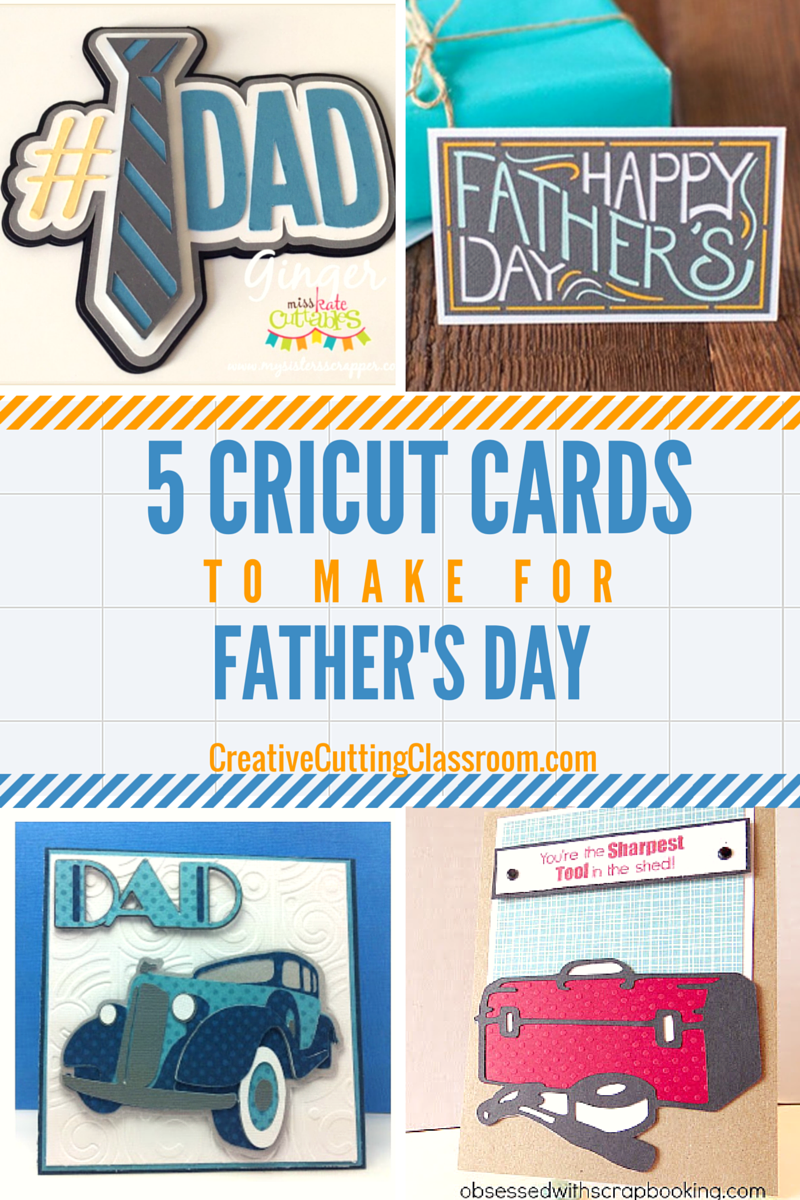 5 Cricut Cards for Father's Day