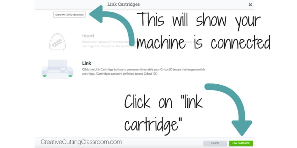 Link Cricut cartridges