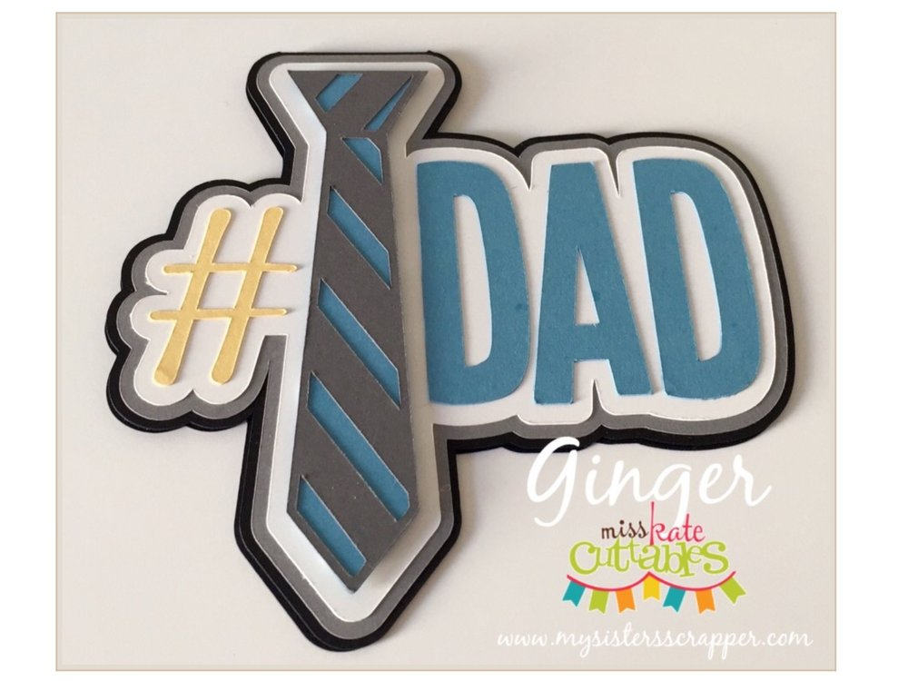 Father's Day Cricut card